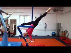 Different tension split... Aerial Silks - Cross Catchers Split to Meat Hook