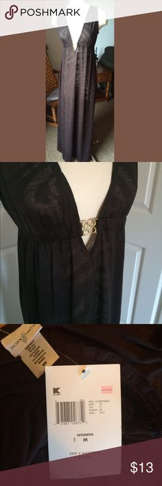 NWT maxi dress/cover-up New with tags maxi dress. Gorgeous! Tried to capture this in good lighting but pics do not do this justice! Is a bit see through so I think it would be perfect for a cover up as well! Dresses Maxi