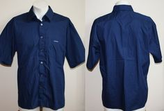 Genuine Kangol Short Slave Shirt Size XL Fashion Designer Blue Navy Colour