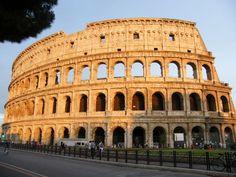 Sun set on Colosseum #colosseum #rome #italy #rtw #travel