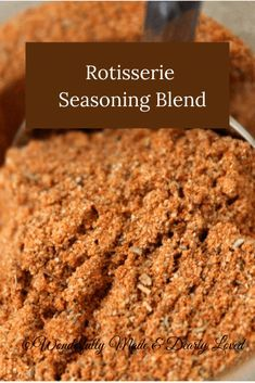 A healthy Rotisserie SeasoningBlend to use when air frying or roasting your chicken, pork roasts or seasoning fish. This blend contains no extra fillers! Homemade Dry Mixes, Homemade Spice Blends, Homemade Spices, Homemade Seasonings, Spice Mixes, Spice Rub, Rotisserie Chicken Seasoning, Chicken Spices, Chicken Dips