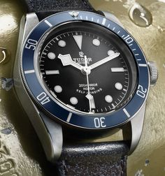 "2014 Tudor Heritage Black Bay ""Blue"" 79220B Watch Hands-On - by James Stacey -  ""For Heritage Black Bay timepiece lovers, 2014 will be a good year as an almost black, blue bezel version known as the ref. 79220B watch has been announced. Baselworld news comes a day early this year as we've just left a dinner hosted by Tudor and the fine folks at Watchonista where we got see the follow up to the massively successful Heritage Black Bay..."""