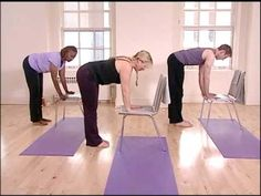Stronger Seniors Chair Yoga Standing Sequence. I LOVE LOVE LOVE this!
