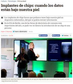 Implantes de chips : cuando los datos están bajo nuestra piel / @eldiarioes   #readyfordata #readyfortechnology #readyfordigitalprivacy