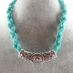 Turquoise Twisted Beads Western Silver Accessory Necklace Cowgirl Horse Jewelry #Uniklookjewelry #layersbeaded