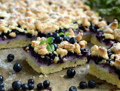 Gotuj z Cukiereczkiem: Kruche ciasto z jagodami i budyniem
