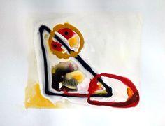 Serie Pictogramas Pintura Abstracta sobre papel couché. Pintura acrílica, esmalte y tinta. Informalismo y textura, línea de GermantrArt en Etsy