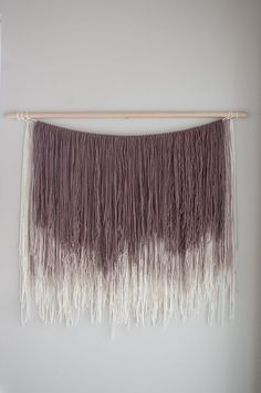 Large yarn wall hanging  ombre wall hanging  by Thoseindiemommies