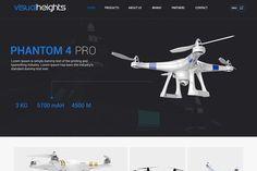 Drone Website Design | We Love Free PSD