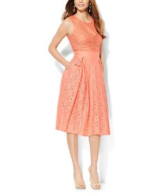 Look what I found on #zulily! Coral Cove Eyelet Fit & Flare Dress #zulilyfinds
