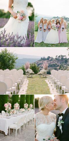 Lavender mountainside wedding. via @stylemepretty