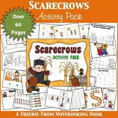 FREE Fall Scarecrow Activity Pack {60 pages}