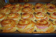 Ham and Cheese Pinwheels: Espirales de jamon y queso paso a paso by auro44, via Flickr