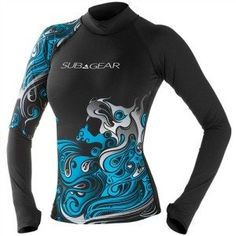 sub gear womens crimp long sleeve rash guard