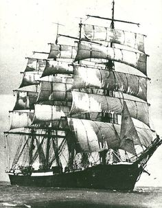 A four-masted steel barque built in 1911 by Blohm & Voss, Hamburg.
