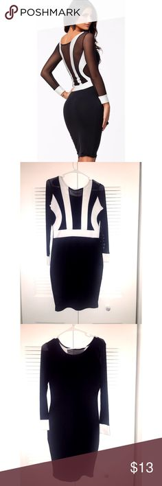 😍💋Sexy Long Sleeve Bodycon Dress 💋😍 Sz L Sexy long sleeve bodycon dress. Perfect for those holiday parties. Size Large. Fits more like a medium. Excellent Condition. NWOT. Make this ☝🏾️treasure yours today ☺️. Don't be scared to make an offer, you never know unless you try. Bundle multiple items for the best savings. Pay one low price for shipping 🎁!   Thanks for stepping into Coco's Closet 😘 Dresses Midi