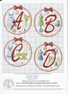 Alphabet sewing 1