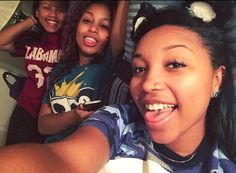 Zonnique Pullins, Bahja Rodriguez and Breaunna Womack from the OMG Girlz