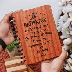 Harry Potter Wooden Notebook- Set of 3 - Large / Mahogany