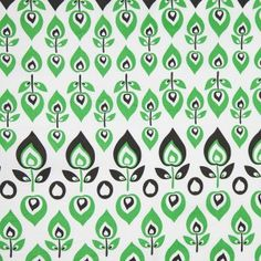 Green and Black Retro-Style Stretch Cotton Print 303162 This fun floral print reminds us of a small-scale Swedish print you'd see back in the seventies. But this cotton fabric is so much better because it has Lycra, giving it lovely crosswise stretch. Shirting Fabric, Cotton Fabric, Fashion Fabric, Fashion Prints, Mood Fabrics, Green Fabric, Fabric Online, Printed Cotton, Design Elements