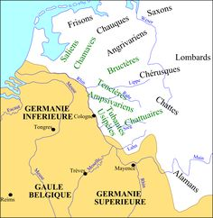 From Wikiwand: Germania Superior and Germania Inferior in the 3rd century.