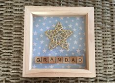 """Unique Star Frame perfect Father's Day Gift for any """"Star Dad"""" """"Star Daddy"""" """"Star Grandad""""  Father's Day Gift Idea??"""