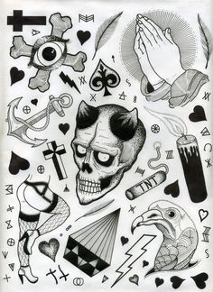 tattoo flash sheets on Behance