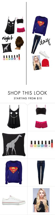 """""""Sleepover"""" by californiadreamerxx ❤ liked on Polyvore featuring Wildfox, Charlotte Russe, Mudhut, Forever 21, Pull&Bear, Converse and Neff"""