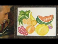 ΣχεδιαΖΩγραφίζω ένα τραπέζι με φρούτα εποχής/ Painting summer fruits Watercolors, Watercolor Paintings, Tv, Water Colors, Television Set, Watercolour Paintings, Watercolor, Watercolor Art, Television