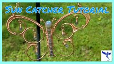 Wire Jewelry Making, Wire Wrapped Jewelry, Butterfly Wind Chime, Wire Weaving Tutorial, Wire Art Sculpture, Wire Tutorials, Chain Nose Pliers, Wire Flowers, Mandala Dots
