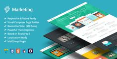 Marketing - Startup Landing Page Bootstrap WP