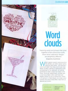 Word Clouds 2/2 Cross Stitch Card Shop Issue 89 March/April 2013  Hardcopy in Folder