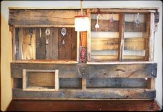 Wall Organizer Jewelry Storage from Reclaimed Wood by RustedCreek, $128.00