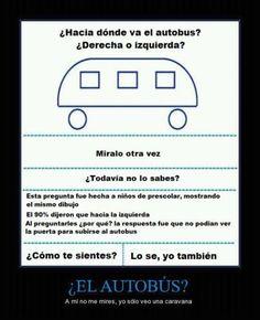 ¿Hacia donde va el autobus? #imagen