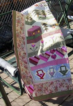 Row by Row Country Sampler Patchwork Quilt by mkhquilts on Etsy,