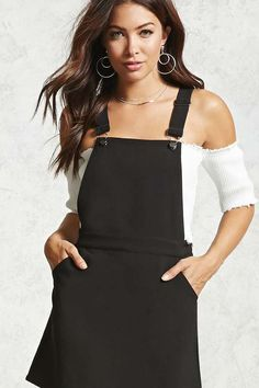 FOREVER 21 Square-Neck Overall Dress  teen teenage fashion style vacation beach college summer + spring womens outfits casual romper first day school fall + winter     Disclosure: Please note the link is an affiliate link which means-at zero cost to you-I might earn a commission if you buy something through my links.