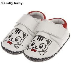 Fashion Infant Baby Girls Shoes Cartoon Newborn Baby Crib Shoes Girls Toddler Sneakers Soft Sole Genuine Leather Princess Shoes-Touchy Style-White-0-6 Months-TouchyStyle