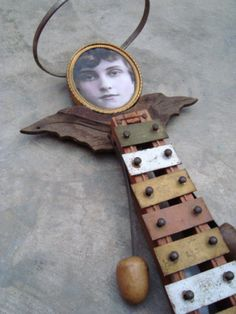 """Helen Makes Heavenly Music"" by TemporaryInsanity ~ toy xylophone, shoe trees, drawer handle."