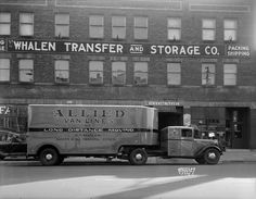 Allied Van Lines Truck   Photograph   Wisconsin Historical Society