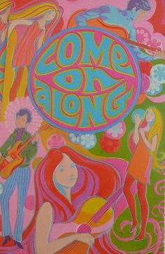 1960's Invitation creative psychedelic art
