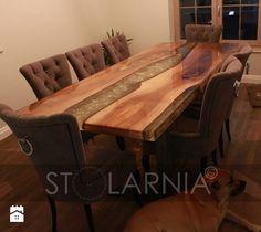 Stół naturalny drzewo w żywicy z Swarovski - NOWOŚĆ ! StolarniaG - zdjęcie od StolarniaG