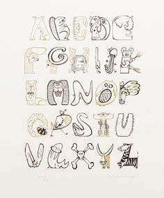 Animalphabet; a lovely drawing alphabet