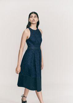 Bonded Lace Dress, Black/Multi   WHISTLES