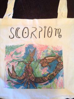 Scorpio tote on ETSY !
