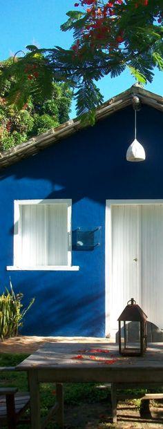 The colorful facade of Casa Seu Irenio, UXUA Casa Hotel & Spa, Trancoso - Bahia -Brasil