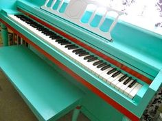 Painted Piano #diy...I'm not quite sure how to ask my boyfriend if I can paint his piano. Haha.