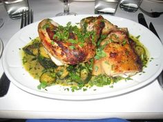 Roasted Chicken and Summer Squash at Florio