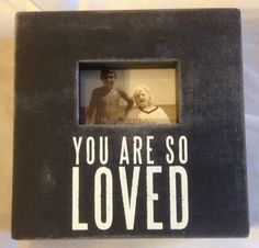 Primitives By Kathy Box Photo Frame You Are So Loved 6x6 NEW #PrimitivesByKathy #RusticPrimitive
