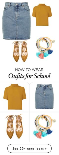 """2nd Day of School"" by royaltyjayy on Polyvore featuring Topshop and Glamorous"