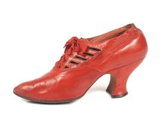 Red Victorian Walking Boots, 1900-1919